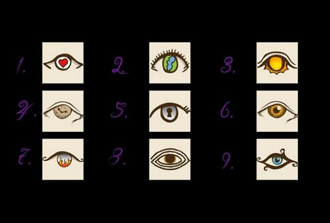 Выберете глаз, который вам больше всего понравился и посмотрите ответ