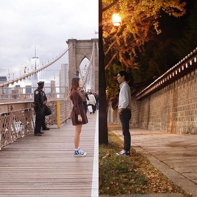 Как сделать две разные фотографии вместе