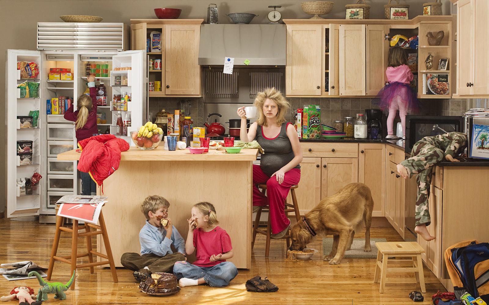 Домохозяйку в доме