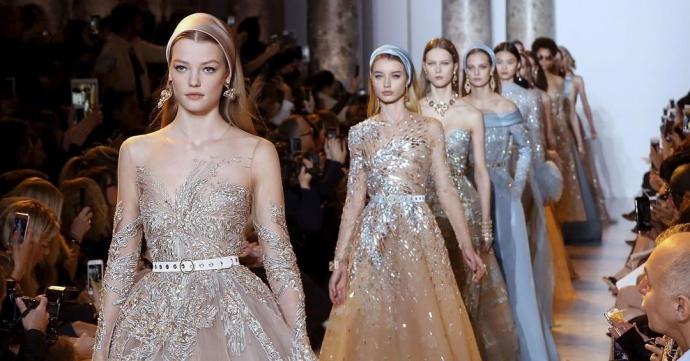 98ee0ee0a5a Создатели самых шикарных свадебных платьев Эли Сааб и Зухаир Мурад покорили  новыми коллекциями