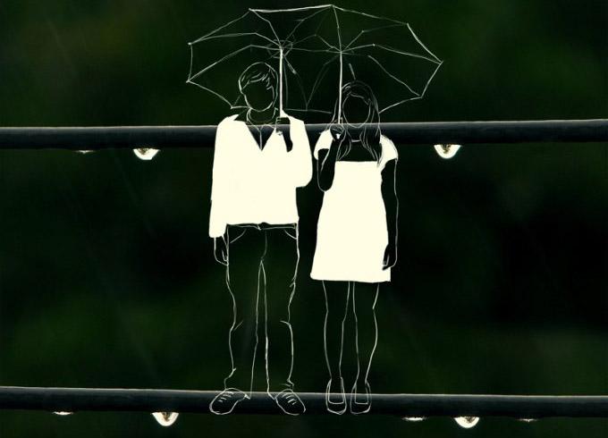 couple-rain